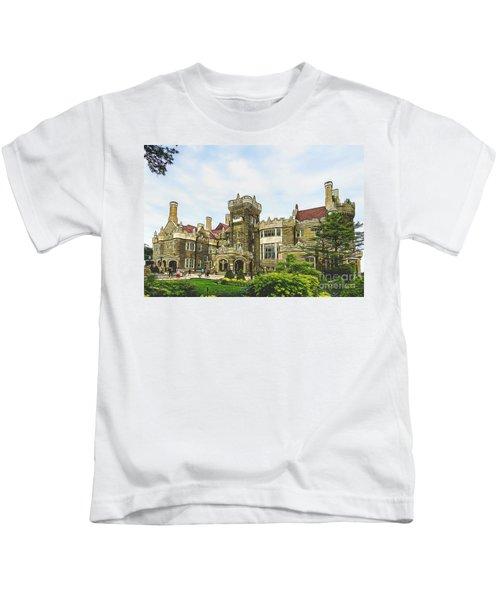 Casa Loma In Toronto Kids T-Shirt