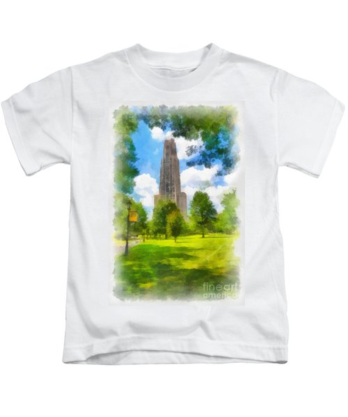 Cathedral Of Learning University Of Pittsburgh Kids T-Shirt