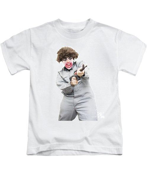 Female Psycho Killer Kids T-Shirt
