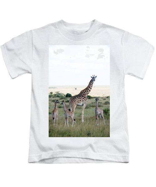 Masai Giraffes Giraffa Camelopardalis Kids T-Shirt