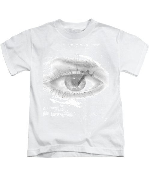 Plank In Eye Kids T-Shirt
