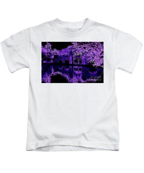 Tidal Basin Inlet Bridge Purple Kids T-Shirt