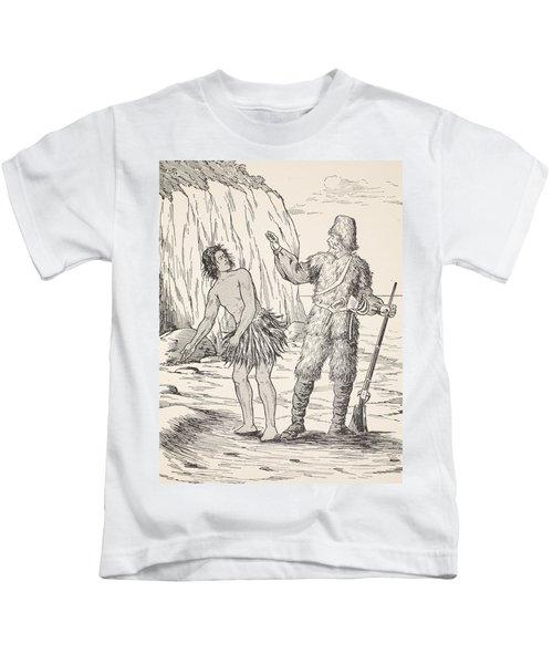 Robinson Crusoe And Friday Kids T-Shirt