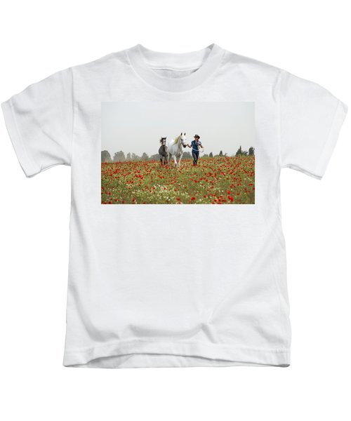 Three At The Poppies' Field... 3 Kids T-Shirt