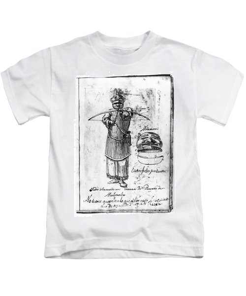 Tlingit Warrior, 1791 Kids T-Shirt