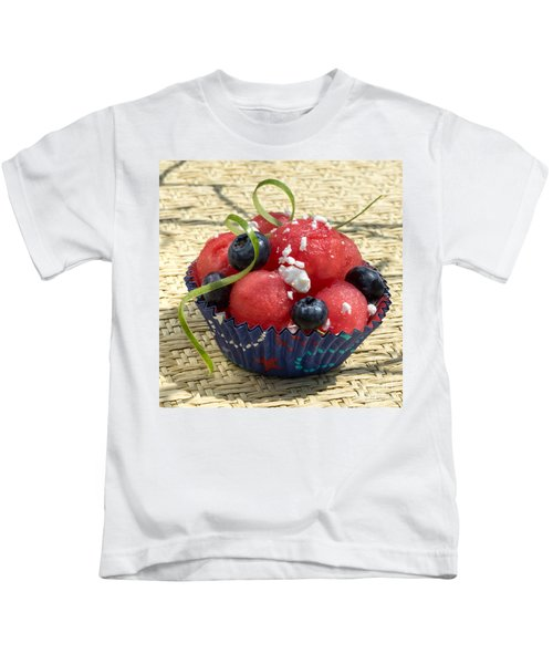 Watermelon Blueberry And Goatcheese Kids T-Shirt