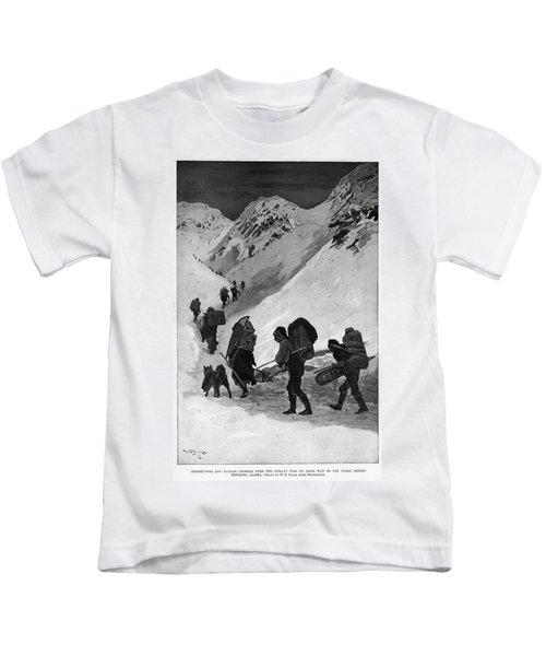 Yukon Gold Rush, 1896 Kids T-Shirt