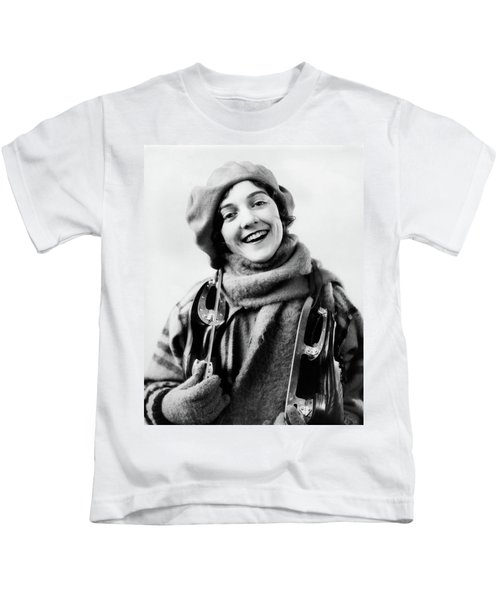 1920s 1930s Smiling Woman Dressed Kids T-Shirt
