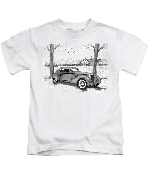 1937 Delage D8 120 Kids T-Shirt