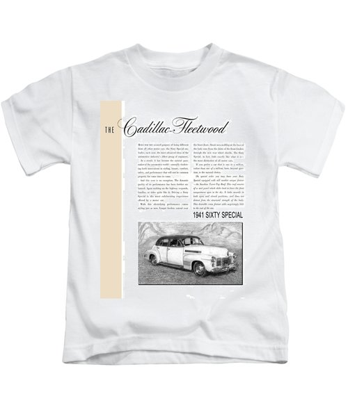 1941 Cadillac Fleetwood Sedan Vintage Ad Kids T-Shirt