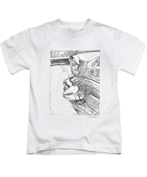 1956 Buick Roadmaster Study Kids T-Shirt