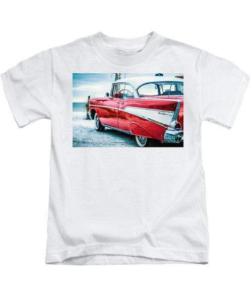 1957 Chevy Bel Air Kids T-Shirt