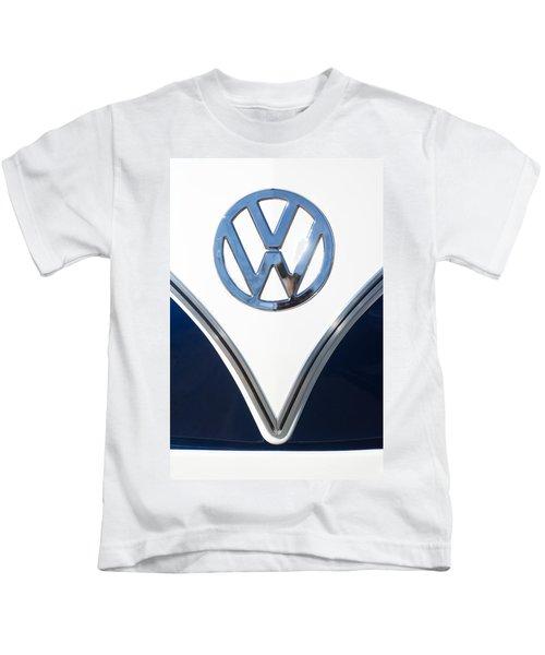 1958 Volkswagen Vw Bus Emblem Kids T-Shirt