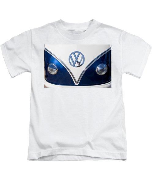 1958 Volkswagen Vw Bus Hood Emblem Kids T-Shirt