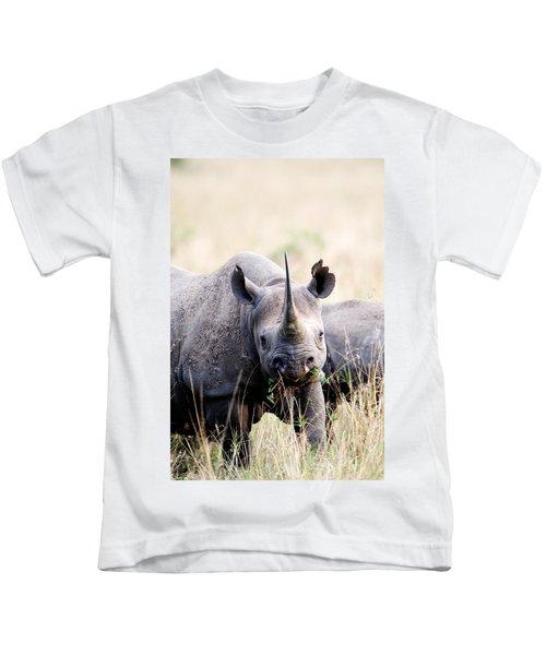 Black Rhinoceros Diceros Bicornis Kids T-Shirt