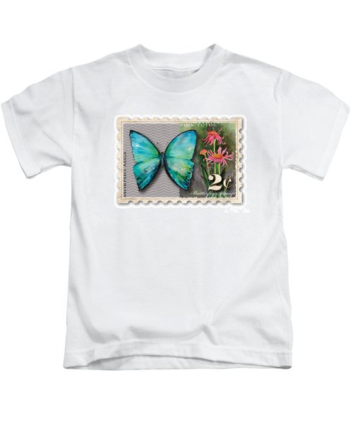 2 Cent Butterfly Stamp Kids T-Shirt