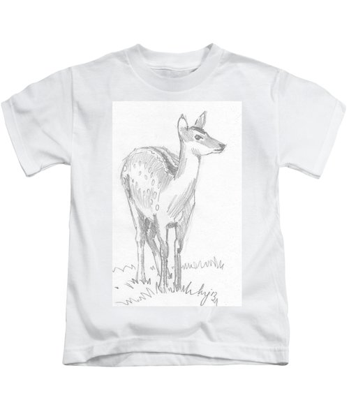 Deer Drawing  Kids T-Shirt