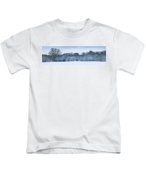 Hampstead Heath In Winter, North Kids T-Shirt