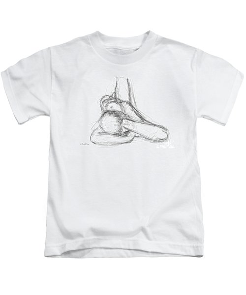Nude Male Sketches 2 Kids T-Shirt