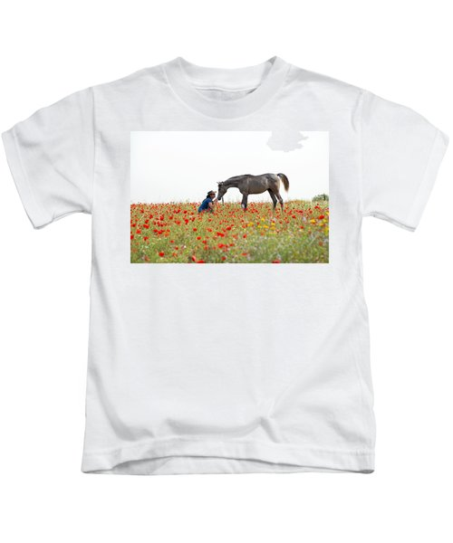 Three At The Poppies' Field... 4 Kids T-Shirt