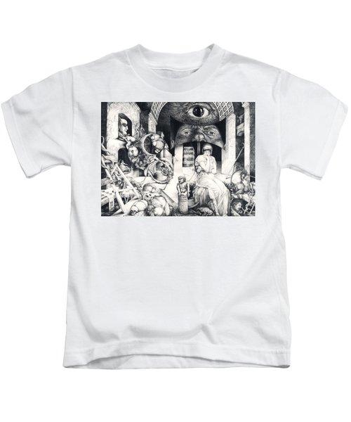 Vindobona Altarpiece IIi - Snakes And Ladders Kids T-Shirt