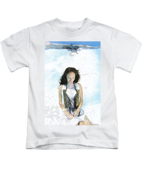 Woman Floats Underwater  Kids T-Shirt