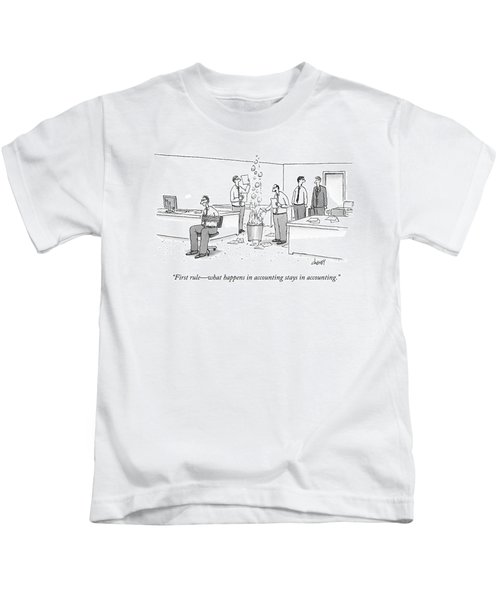 First Rule - What Happens In Accounting Stays Kids T-Shirt