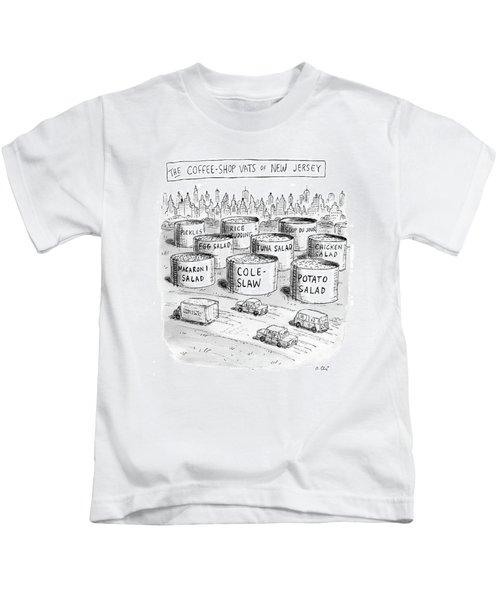 The Coffee Shop Vats Of New Jersey Kids T-Shirt