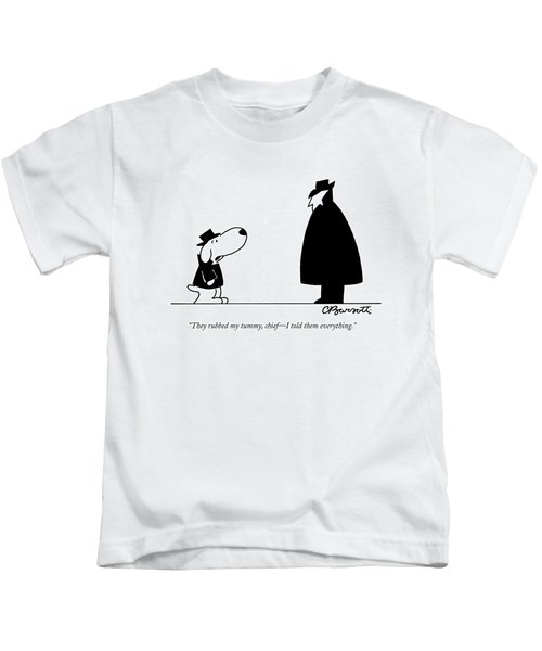 They Rubbed My Tummy Kids T-Shirt