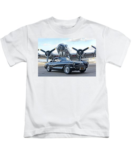 Kids T-Shirt featuring the photograph 1957 Chevrolet Corvette by Jill Reger