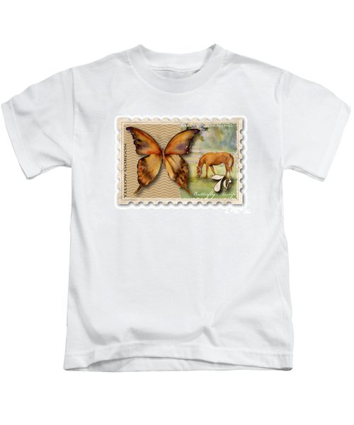 7 Cent Butterfly Stamp Kids T-Shirt