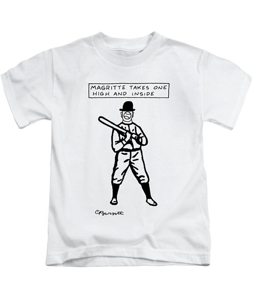 Magritte Takes One High Kids T-Shirt