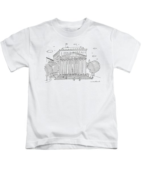 A Building In Washington Dc Is Shown Kids T-Shirt by Michael Crawford