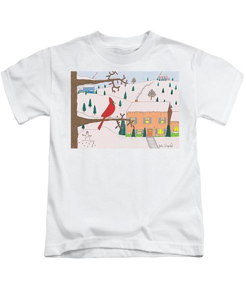 A Cardinal Christmas Kids T-Shirt