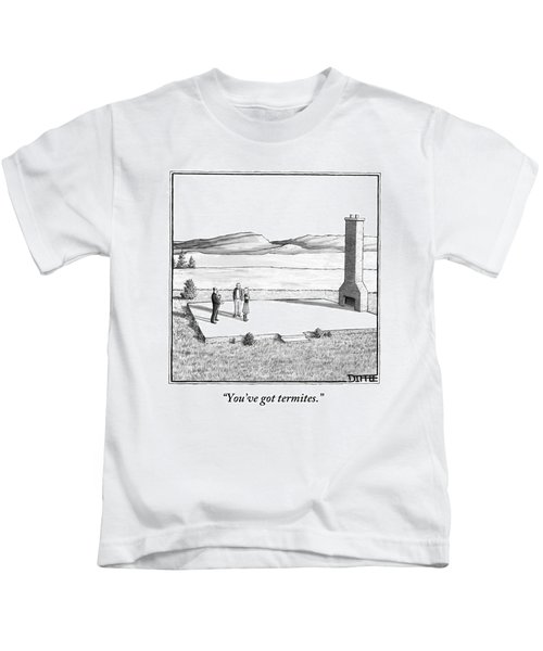 A Couple Stand In An Empty House Frame Kids T-Shirt