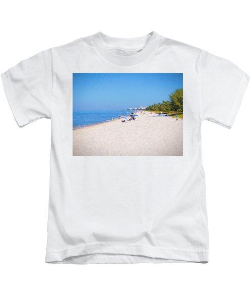 A Day At Naples Beach Kids T-Shirt