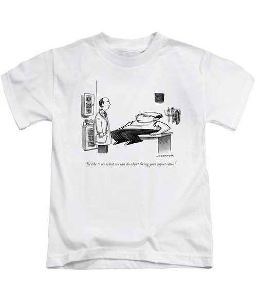 A Doctor Speaks To A Patient Whose Dimensions Kids T-Shirt