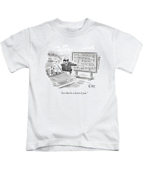 A Highway Traffic Cop Stops A Drive Kids T-Shirt