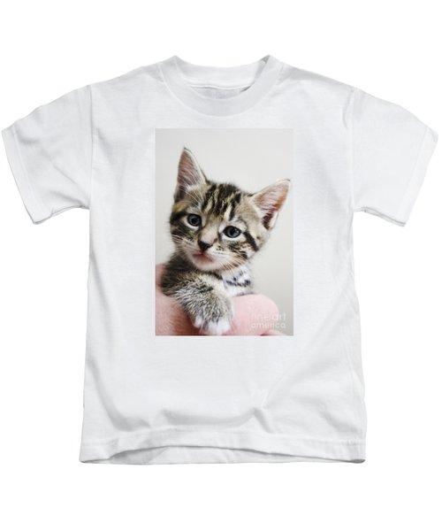A Kittens Helping Hand Kids T-Shirt