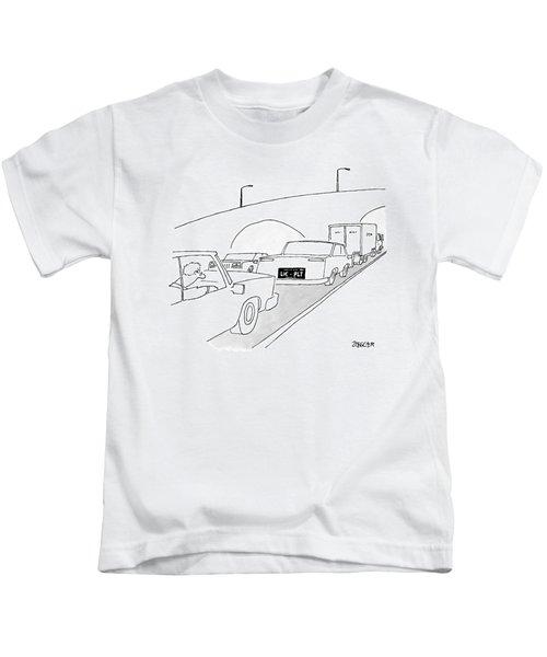 A License Plate That Reads  Lic-plt Kids T-Shirt