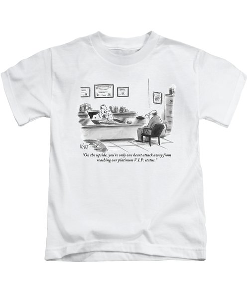 A Man Is Seen Sitting And Talking With A Doctor Kids T-Shirt