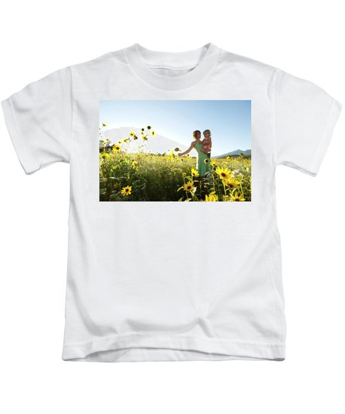 A Mother And Her Young Daughter Explore Kids T-Shirt
