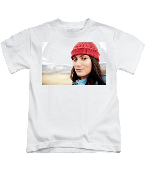 A Portrait Of A Young Woman While Kids T-Shirt