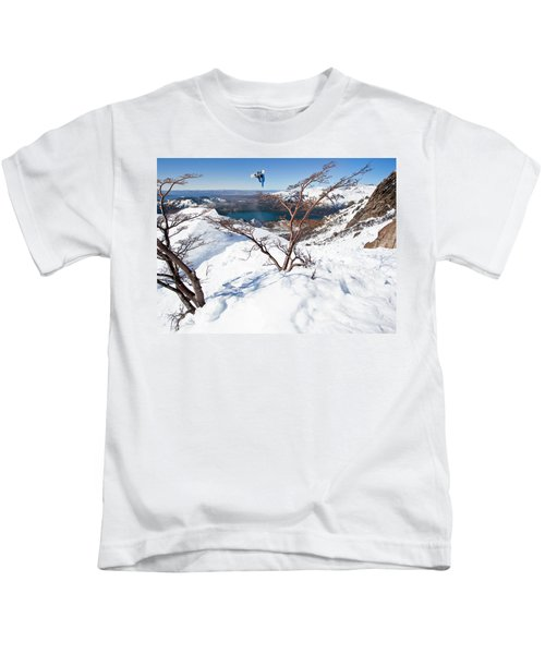 A Snowboarder Hits A Jump Kids T-Shirt