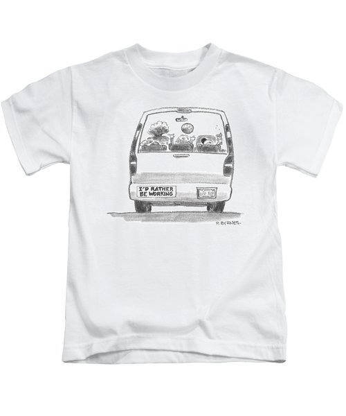 A Vehicle With Many Children Inside Is Seen Kids T-Shirt