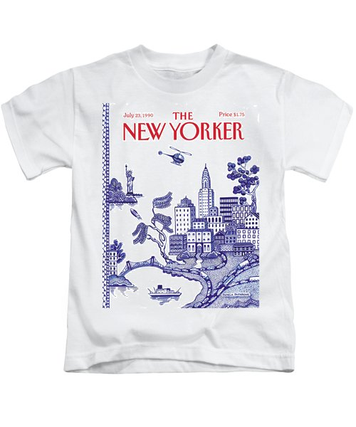 A View Of New York City Kids T-Shirt