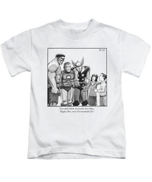 A Woman At A Cocktail Party Introduces Kids T-Shirt