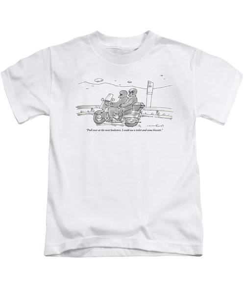 A Woman On The Back Of A Motorcycle Talks Kids T-Shirt