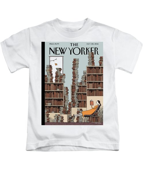 Fall Library Kids T-Shirt