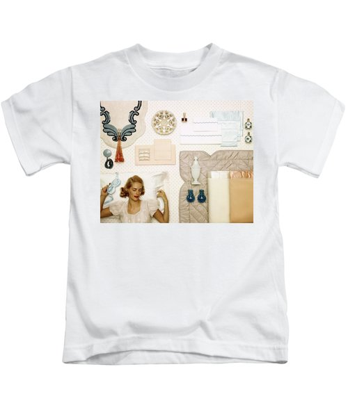 A Woman Sleeping Next To An Assorted Range Kids T-Shirt